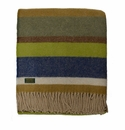 Birchwood Wales Field Stripe New Wool Throw