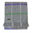 Birchwood Wales Grey/Purple/Green New Wool Throw