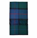Birchwood Westport Blue Plaid Lambswool Scarf