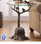 Birds and Branch Table with Bluetooth Speaker by SPI Home