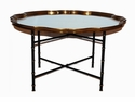 Black And Gold Bamboo Table Stand (Shown With #Aplo19- Sold Seperately) Home Decor