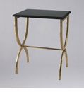 Black Marble and Iron Side Table by Cyan Design