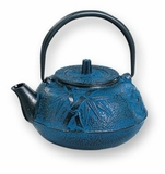 Blue 20 oz Purity Tetsubin Cast Iron Teapot Kettle
