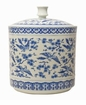 Blue And White Bird Covered Jar Home Decor