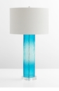 Blue Glass Table Lamp by Cyan Design