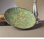 Blue/Green Porcelain Plate 14D Home Decor