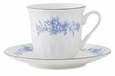 Blue Rose Porcelain Tea Cup & Saucer Sets (6)