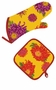 Bodrum Linens Mendocino Flowers Oven Mitt & Pot Holder Set