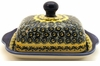 Boleslawiec Polish Pottery Covered Butter Dish - Design DU1