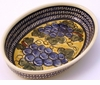 Boleslawiec Polish Pottery Small Oval Baker - Design DU8