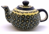 Boleslawiec Polish Pottery Small Teapot - Design DU1