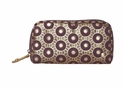 Bollywood Purple Mini Cosmetic Pouch by Stephanie Johnson