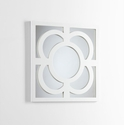 Bowsher White Wood Wall Mirror by Cyan Design