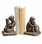 Boy Girl and Cat Bookends by SPI Home