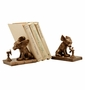 Brass Cool Dog Bookends by SPI Home