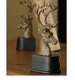 Brass Deer Head Bookends with Wood Base by SPI Home