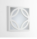 Brodax White Wood Wall Mirror by Cyan Design