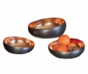 Bronze Copper Set Of 3 Slant Bowls Home Decor