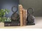 Bronze Iron Rope Knot Bookends Home Decor
