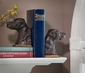 Bronze Lab Iron Bookends Home Decor