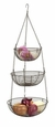 Bronze Woven Wire Three Tier Hanging Basket