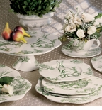 Bunny Toile Dinnerware Collection - J. Willfred Ceramics