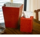 Burnt Orange Croc Waste Basket Home Decor