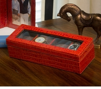Burnt Orange Watch Box (Holds Four) by Dessau Home