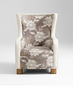 Buttercup  Gray Floral Chair by Cyan Design