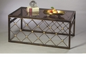 Button Coffee Table Bronze Iron with Brass Accents Home Decor