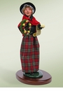 "BYERS' CHOICE 15"" WALKING CAROLING WOMAN"