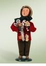 Byers Choice Carolers Boy with Gingerbread Doll