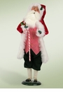 Byers Choice Carolers Candy Cane Santa Doll