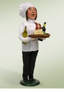 Byers Choice Carolers Chef with Wine and Cheese Doll