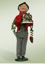Byers Choice Carolers Grandfather Shopper Doll