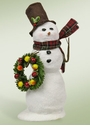 Byers Choice Carolers Snowman with Wreath Doll