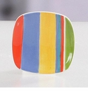 Cabana Striped Round Tea Bag Holders (4) by Hues & Brews