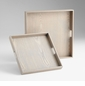 Caffin Gray Veneer Wood Trays by Cyan Design