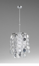 Carina Six Light Pendant Silver by Cyan Design