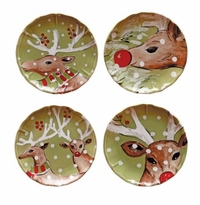 Casafina Deer Friends Dessert Plates Set (4)
