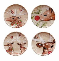 Casafina Deer Friends Dinner Plates Set (4)