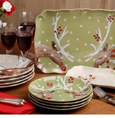 Casafina Deer Friends Holiday Dinnerware Collection