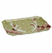 Casafina Deer Friends Rect. Platter