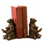 Cast Iron Reading Bear Bookends by SPI Home