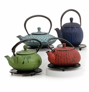 Cast Iron Teapots: Tetsubin Style Cast Iron Tea Kettles, Tea Cups & Trivets - Save 50%