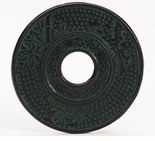 "Cast Iron Trivet - 5 1/2"" Emerald Green Finish"