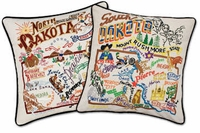 Cat Studio Embroidered State Pillows