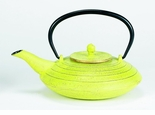 Celery & Gold 27 oz Serendipity Tetsubin Cast Iron Teapot Kettle