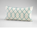 Chain Link Turquoise & White Pillow by Cyan Design