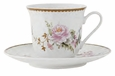 Timeless Rose Porcelain Tea Cup & Saucer Sets (6)